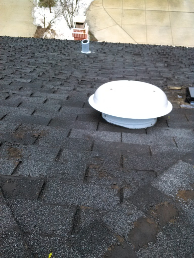 Attic Fan saves shingles