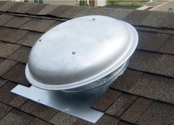 Jet Fan Attic Fan Flashing fits up under the shingles at the top and over the shingles at the bottom.